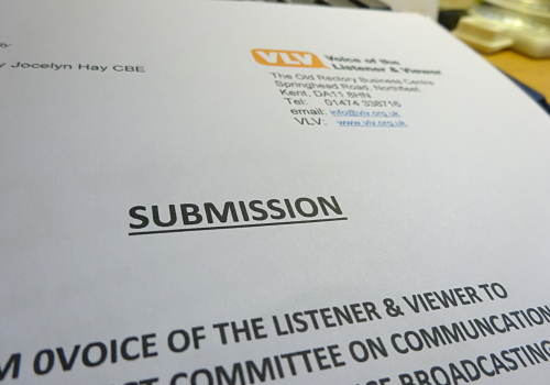 VLV submits evidence to DCMS Select Committee